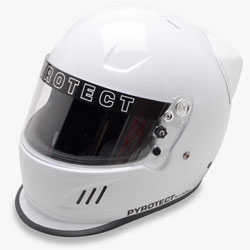 Pyrotect Pro Airflow Full Face Duckbill racing helmet with spoiler