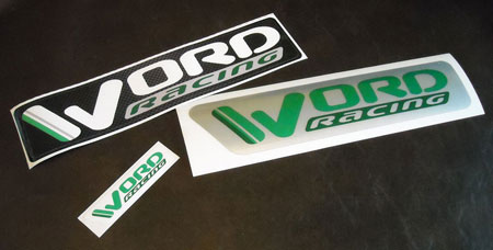WORD Racing decals