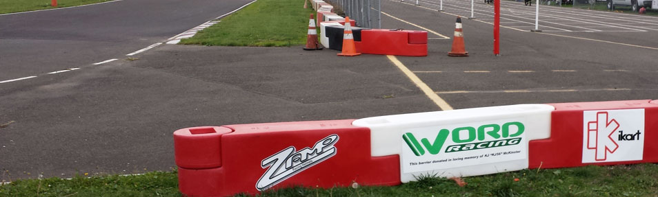 Kart Track with Safety Barriers donated by Word Racing in Memory of KJ56